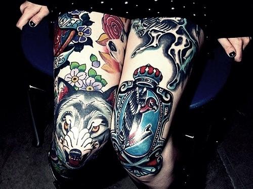 Tatuagem na coxa 38