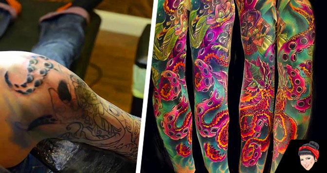 Tatuagem-Kraken-TIme-Lapse