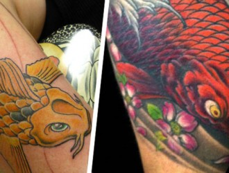 Tatuagem Oriental: 60 lindas Tatuagens de Carpas para se inspirar